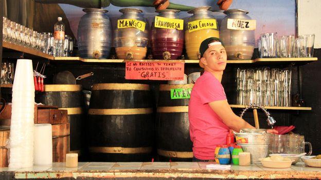 Behind the bar at La Risa (Credit: Brad Cohen)