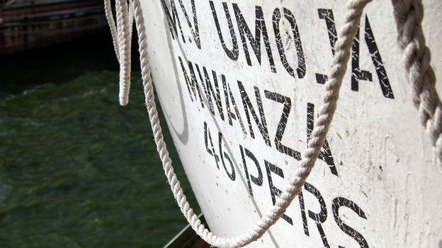 Lifeboat on the Umoja (Credit: Henry Wismayer)