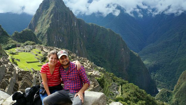 Above the ruins at Machu Picchu (Credit: Valerie Conners)