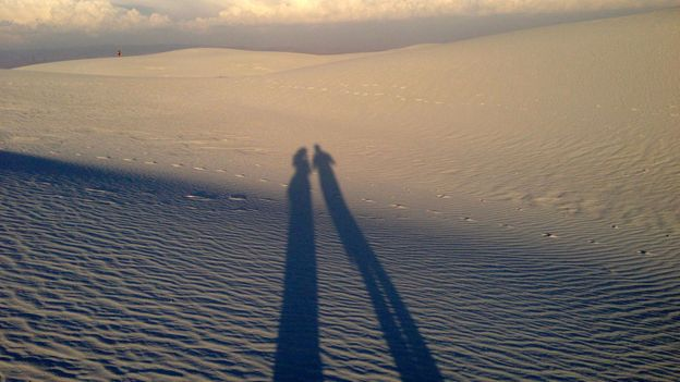 Casting a long shadow in New Mexico (Credit: Valerie Conners)