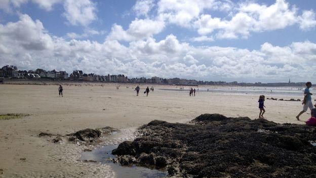 Exposed tide pools (Credit: Hana Schank)