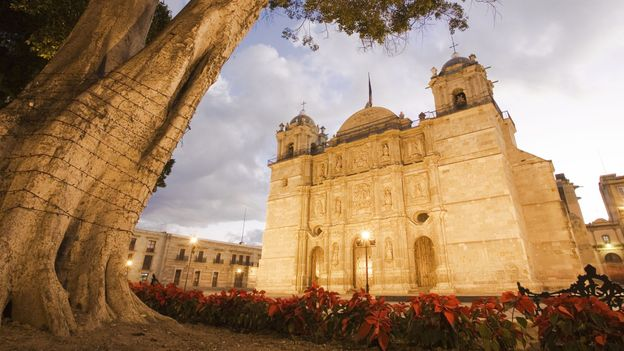 The cathedral in Oaxaca's zocalo (Credit: Jose Peral/Getty)