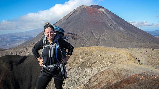 The volcanic Tongariro Alpine Crossing in New Zealand (Credit: Liz Carlson)