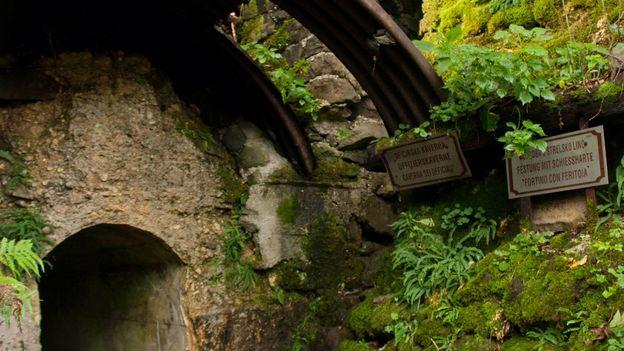 The entrance to Ravelnik's tunnels (Credit: Kirsten Amor)