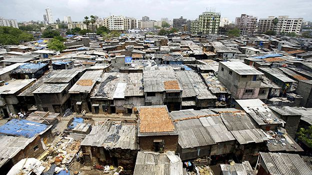 The slum colony of Dharavi in Mumbai, India (Credit: Getty)