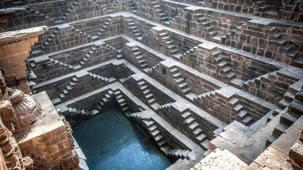 The symmetrical steps of India's Chand Baori stepwell (Credit: Thinkstock)