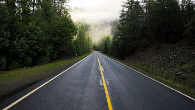 Fog lifts on the Bigfoot Scenic Byway (Credit: Andy Murdock)