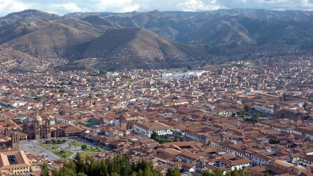 A view of Cusco, from the ruins at Sacsayhuaman (Credit: Cynthia Kane)