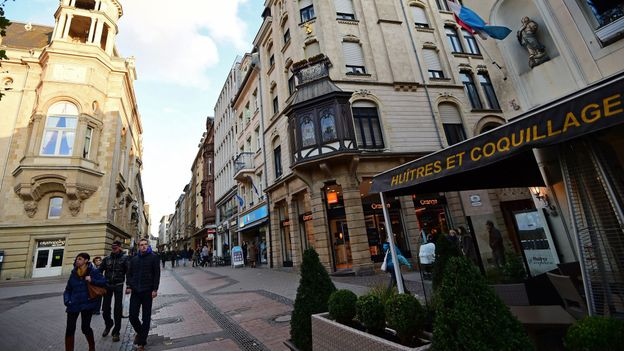 Downtown Luxembourg City (Credit: Emmanuel Dunand/Getty)