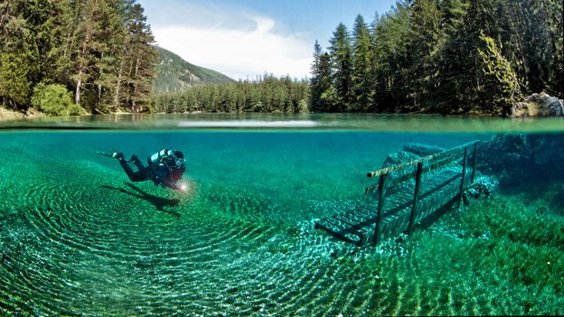Austria's otherwordly dive site (Credit: Credit: WaterFrame/Alamy)