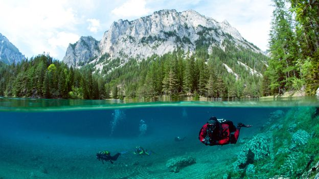 Divers in the lake (Credit: Credit: Westen61 GmbH/Alamy)