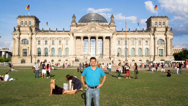 Outside the Reichstag Building, Berlin (Credit: Credit: Michael Hodson)