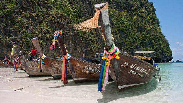 Traditional long-tail boats (Credit: Credit: Mark Fischer/Maya Bay Boats/Flickr/CC BY-SA 2.0)