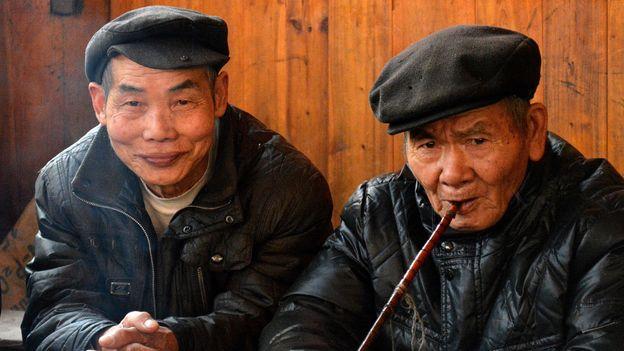 Village elders (Credit: Credit: Ronan O'Connell)