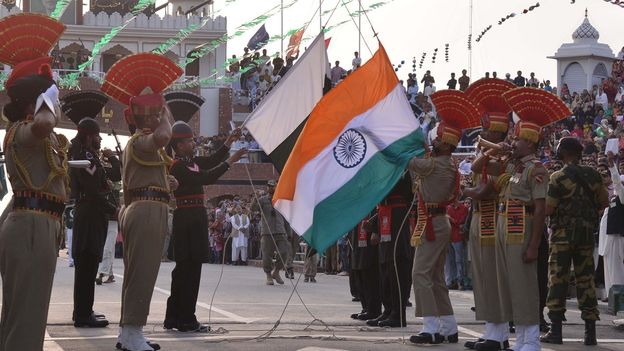 "The ""flag-off"" during the closing ceremony (Credit: Credit: Narinder Nanu/Stringer/Getty)"