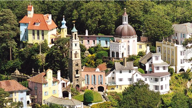 An aerial view of Portmeirion (Credit: Credit: Tim Richmond Photography)