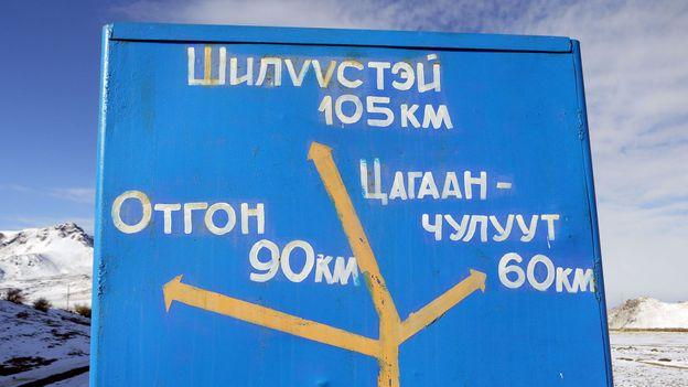 Directions on Lake Khövsgöl (Credit: Credit: Stephen Fabes)