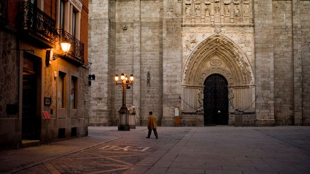 Ávila's Cathedral Square at dusk (Credit: Credit: JMN/Getty)