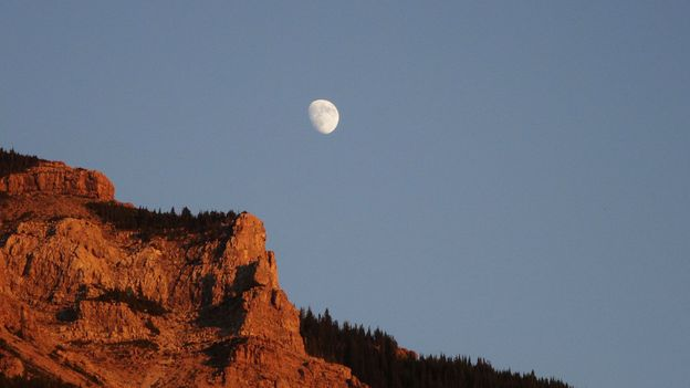 The moon rises over Waterton (Credit: Credit: Carol Patterson)