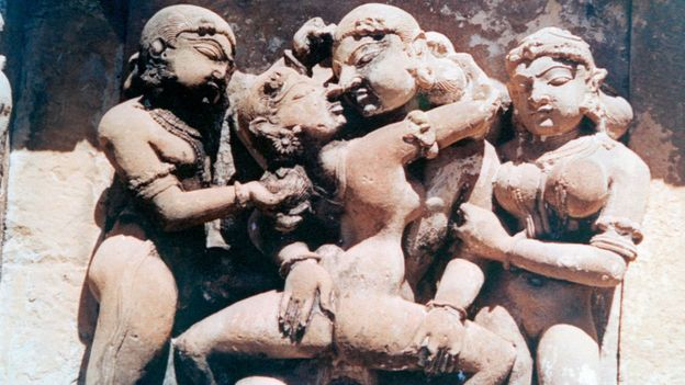 A closer inspection of the temple's sculptures (Credit: Credit: Print Collector/Getty)