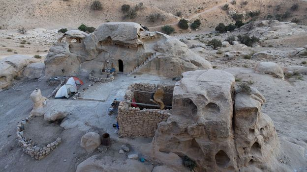 Ghassab inherited the rock-cut cave from his family (Credit: Credit: Will Jehring)