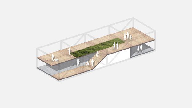 Liberty Bridge path configurations (Credit: Credit: Jeff Jordan Architects)