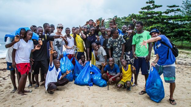 The Kwepunha surfing community is helping Liberia heal (Credit: Credit: Alphanso Appleton)