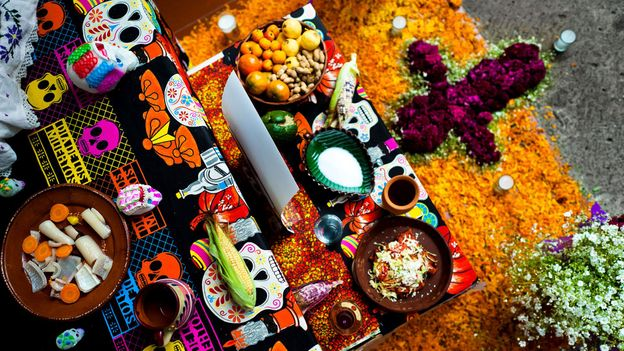 Pumpkins are placed on Day of the Dead altars (Credit: Credit: Jan Sochor/Alamy)