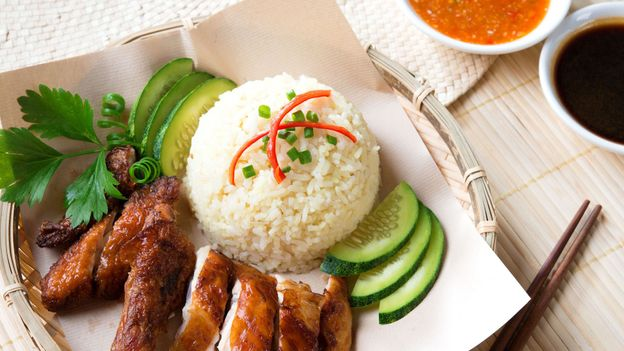 Hainanese chicken rice is one of Singapore's national dishes (Credit: Credit: Szefei Wong/Alamy)