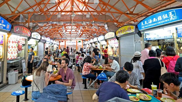 Maxwell Food Centre is a popular place to find chicken rice in Singapore (Credit: Credit: Phillip Bond/Alamy)