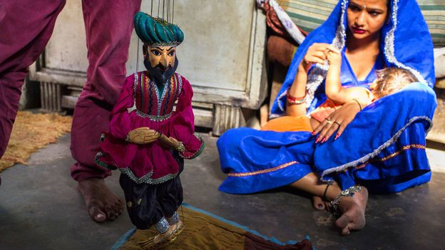 Katputli's residents are passionate about preserving their traditional art (Credit: Credit: AFP/Getty)