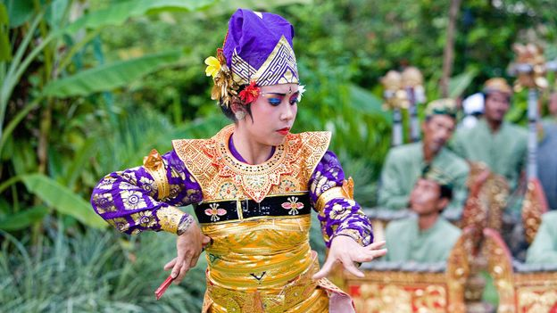 Folk dancing shows are common at island resorts (Credit: Credit: Hemis/Alamy)