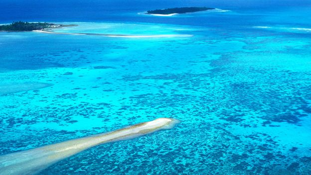 Crystal blue water surrounds the remote Diego Garcia island in the Chagos Archipelago (Credit: Credit: John Parker/Sylvia Cordaiy Photo Library/Alamy)