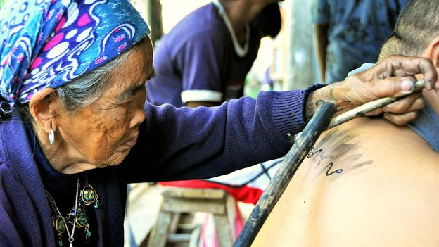 Tourists cannot get certain tattoos that are reserved for warriors (Credit: Credit: Travel Trilogy)