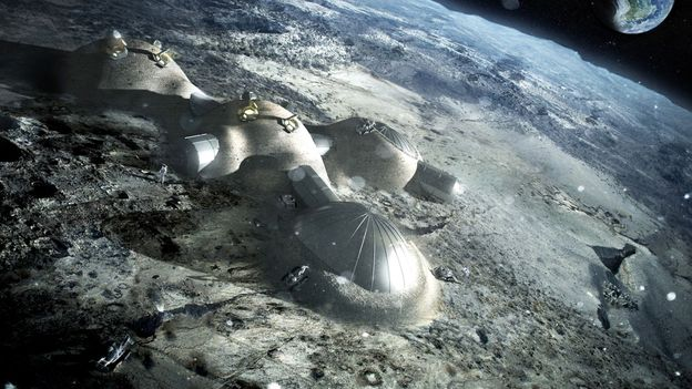 A village made of Moon dust