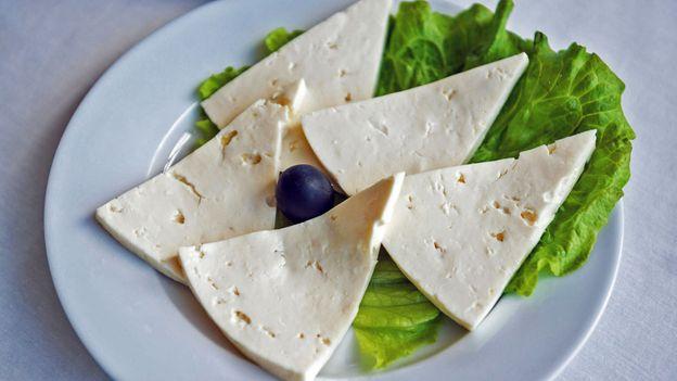 Imeruli cheese, from the Imereti region (Credit: Credit: kpzfoto/Alamy)