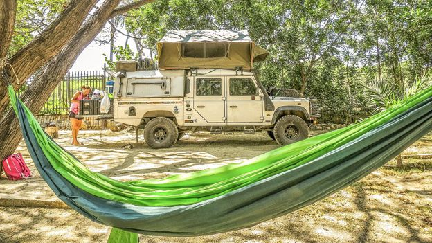 Camping near El Rodadero in Colombia, 2014