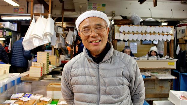 Many of the shopkeepers have worked at Tsukiji for decades (Credit: Credit:Jenna Scatena)