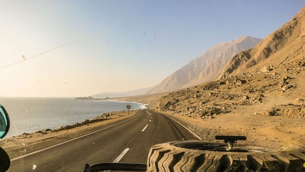 Driving along the Chilean coast, 2013