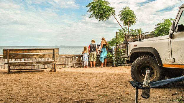 Camping beside Malawi's namesake lake, 2010