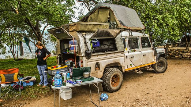 Camping (and avoiding hippos) in Zambia, 2010