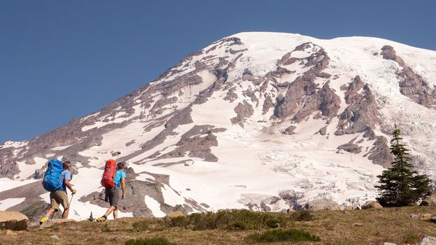 Mount Rainier is a perfect training ground for mountaineering (Credit: Credit: The Whittakers)