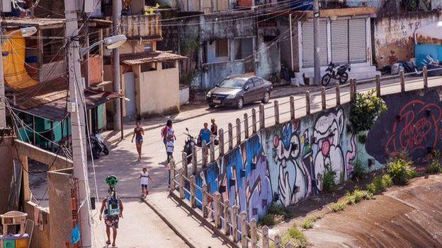 Walking the streets of Rio's favelas (Credit: Credit: Google)