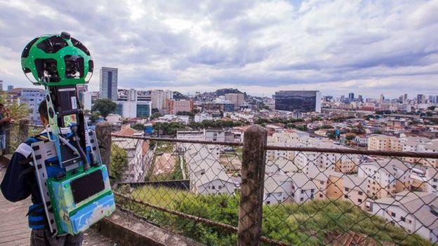 Getting a panoramic view of São Carlos (Credit: Credit: Google)