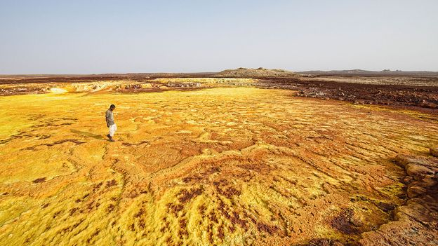 The Danakil Depression resembles a surrealist painting (Credit: Credit: Dave Stamboulis)