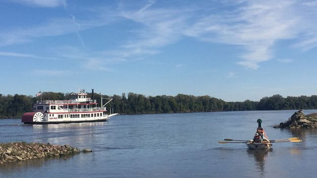 Rowing the 3,700km Mississippi river