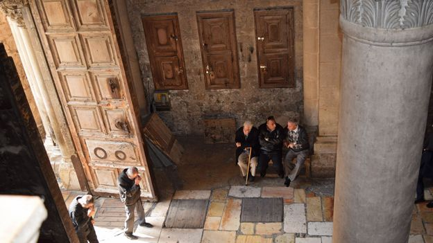 Historians have not determined how long the doorkeepers have guarded the church (Credit: Credit: Sara Toth Stub)