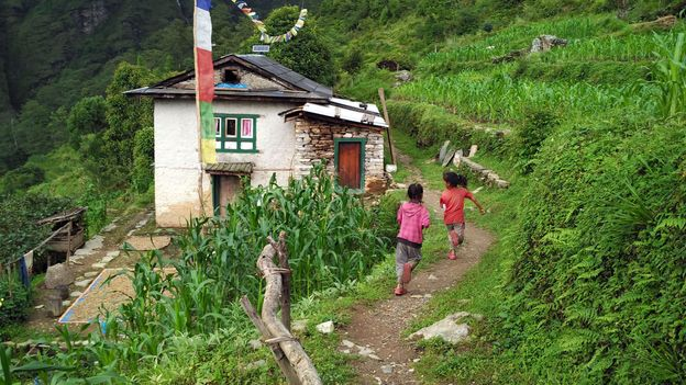 The picturesque village in Nepal's Sindupalchowk District is home to around 60 families (Credit: Credit: Amrit Sharma)