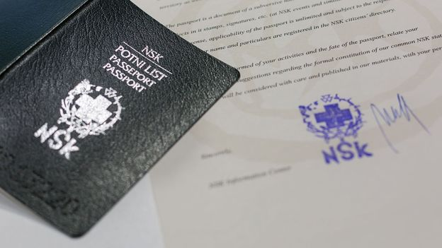 A passport from a country that doesn't exist