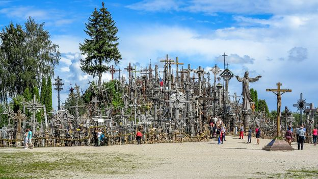No-one knows how Lithuania's Hill of Crosses came to be (Credit: Credit: Paul Stewart)